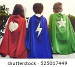 superhero boy girl brave... | Shutterstock . vector #525017449