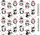 seamless pattern with winter... | Shutterstock .eps vector #525026221