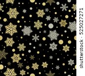 snowflake seamless pattern... | Shutterstock .eps vector #525027271