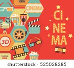 movie design background anwith... | Shutterstock .eps vector #525028285