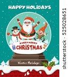 vintage christmas poster design ...   Shutterstock .eps vector #525028651