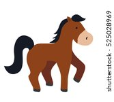 Isolated Horse Cartoon Icon...