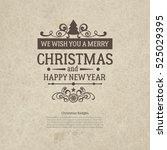 premium vintage retro flat... | Shutterstock .eps vector #525029395