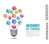 internet of things concept  ... | Shutterstock .eps vector #525032359