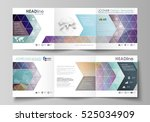 set of business templates for... | Shutterstock .eps vector #525034909