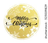 christmas decoration background.... | Shutterstock .eps vector #525039829