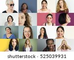 diverse people smiling... | Shutterstock . vector #525039931