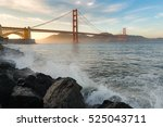 golden gate bridge in the best... | Shutterstock . vector #525043711