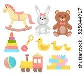toys set. flat design | Shutterstock .eps vector #525044917