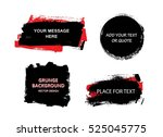 set of black paint  ink brush... | Shutterstock .eps vector #525045775