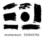 set of black paint  ink brush... | Shutterstock .eps vector #525045781