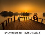 sunrise at lan ha bay  hanoi ... | Shutterstock . vector #525046015