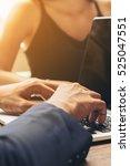 business man using laptop... | Shutterstock . vector #525047551