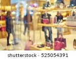 blurred showcases fashion... | Shutterstock . vector #525054391