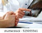 female medicine doctor hands... | Shutterstock . vector #525055561