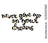 never give up on your dreams.... | Shutterstock .eps vector #525055585