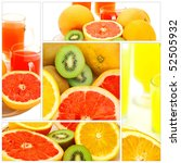fresh raw tropical fruits...   Shutterstock . vector #52505932