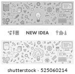 line design concept web banner... | Shutterstock .eps vector #525060214