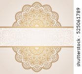 invitation card with mandala. | Shutterstock .eps vector #525061789