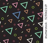 pattern of colored triangles ...   Shutterstock .eps vector #525062119