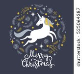 christmas illustration with... | Shutterstock .eps vector #525064387