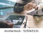 business team present.... | Shutterstock . vector #525065131