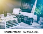 photographer photographic... | Shutterstock . vector #525066301