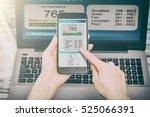 report credit score banking...   Shutterstock . vector #525066391