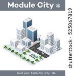3d cityscape city street public ... | Shutterstock .eps vector #525067819