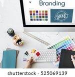 branding ideas design identity... | Shutterstock . vector #525069139