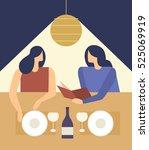 cute girls choosing from a...   Shutterstock .eps vector #525069919