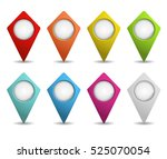 set of map pointers | Shutterstock .eps vector #525070054