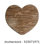 Wooden Heart On White...
