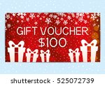 christmas and new year gift... | Shutterstock .eps vector #525072739
