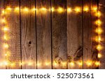 old wooden rustic christmas... | Shutterstock . vector #525073561