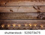 old wooden rustic christmas... | Shutterstock . vector #525073675