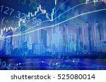 financial data on a monitor.... | Shutterstock . vector #525080014