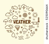 weather minimal thin line icons ... | Shutterstock .eps vector #525090664