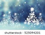 the magic christmas tree.... | Shutterstock . vector #525094201