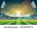 sports stadium with lights  eps ... | Shutterstock .eps vector #525095371