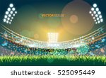 sports stadium with lights  eps ... | Shutterstock .eps vector #525095449