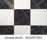 black and white tiles floor... | Shutterstock . vector #525097501