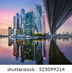 Skyscrapers Moscowcity Reflection Moscow River - Fine Art prints
