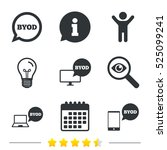 byod icons. notebook and... | Shutterstock .eps vector #525099241