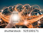 network and connection... | Shutterstock . vector #525100171