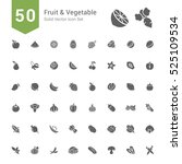 fruit and vegetable icon set.... | Shutterstock .eps vector #525109534
