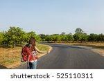 backpacker casual travel... | Shutterstock . vector #525110311