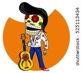 Musician With The Guitar. Elvi...