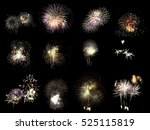 colorful assorted fireworks... | Shutterstock . vector #525115819