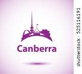 canberra detailed silhouette.... | Shutterstock .eps vector #525116191